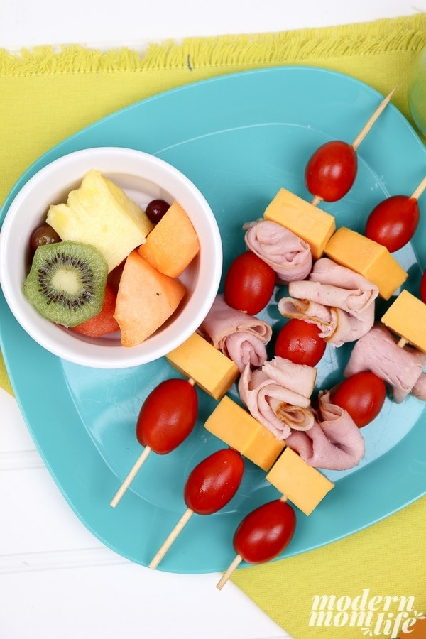 Back to School lunch kabobs