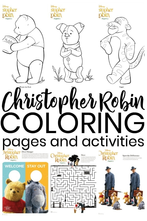 Disney Christopher Robin Coloring Pages