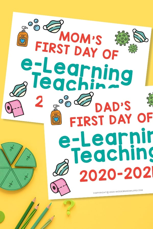 First Day of Virtual Learning Signs