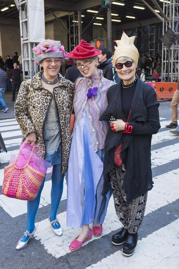 The Idiosyncratic Fashionistas during New York's Easter Parade 2014 | 40plusstyle.com