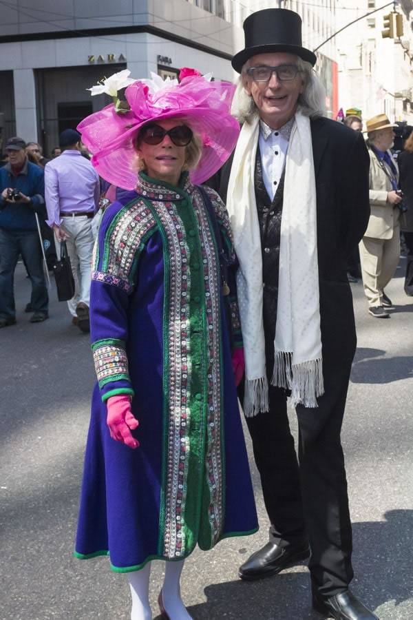 couple at the Easter Parade New York, 5th Avenue, 2014 | 40plusstyle.com