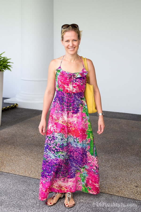 colorful summer maxi dress | 40plusstyle.com