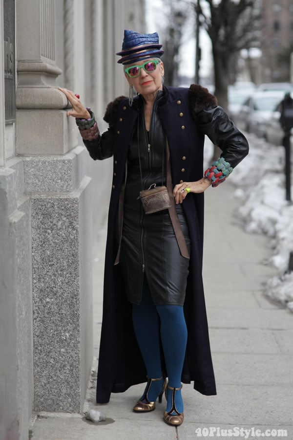 Debra Rapoport in ADVANCED STYLE. Photo by Ari Seth Cohen, New York  City | 40plusstyle.com