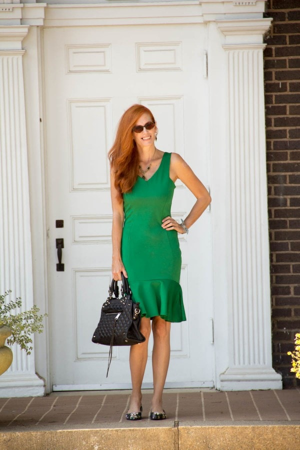 Green Dress | 40plusstyle.com