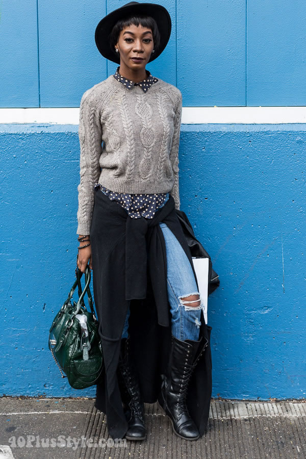 Streetstyle Inspiration From Manhattan Vintage Show In New York | 40plusstyle.com