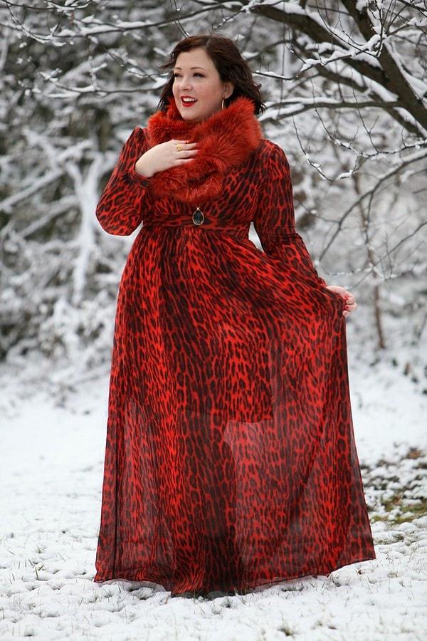 red leopard dress   40plusstyle.com
