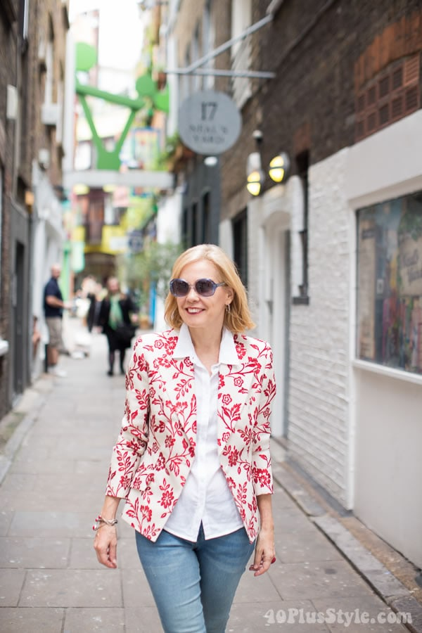 What I wore in Covent Garden, London | 40plusstyle.com