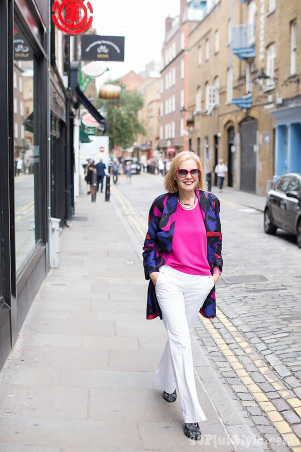 Feeling colorful in London | 40plusstyle.com