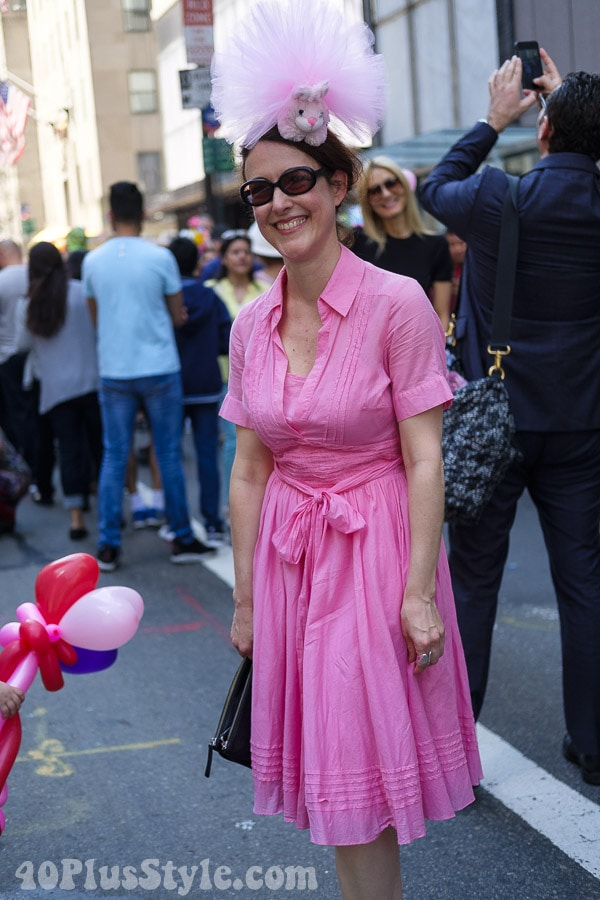 Tulle at and pink wrap dress | 40plusstyle.com