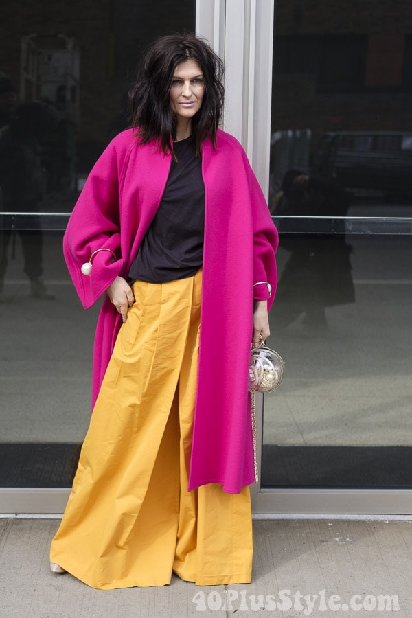 Chic fuschia coats and how to style them | 40plusstyle.com