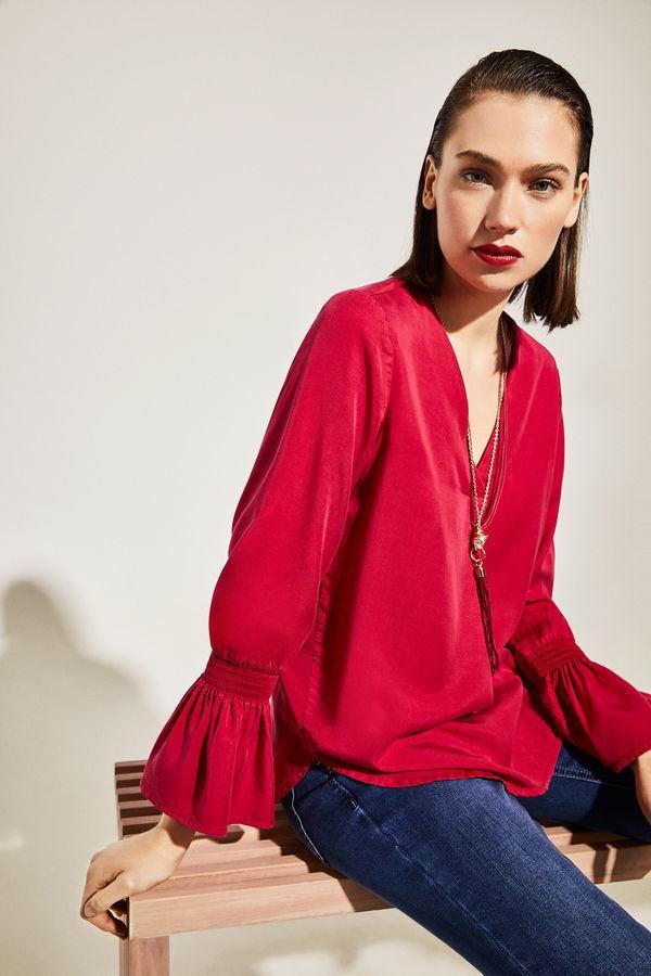cortefiel-mujer-camisa-lyocell-mangas-elasticas