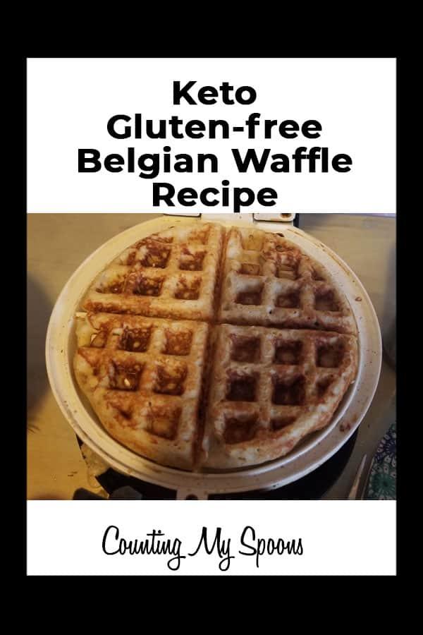 Keto gluten-free belgian waffle recipe