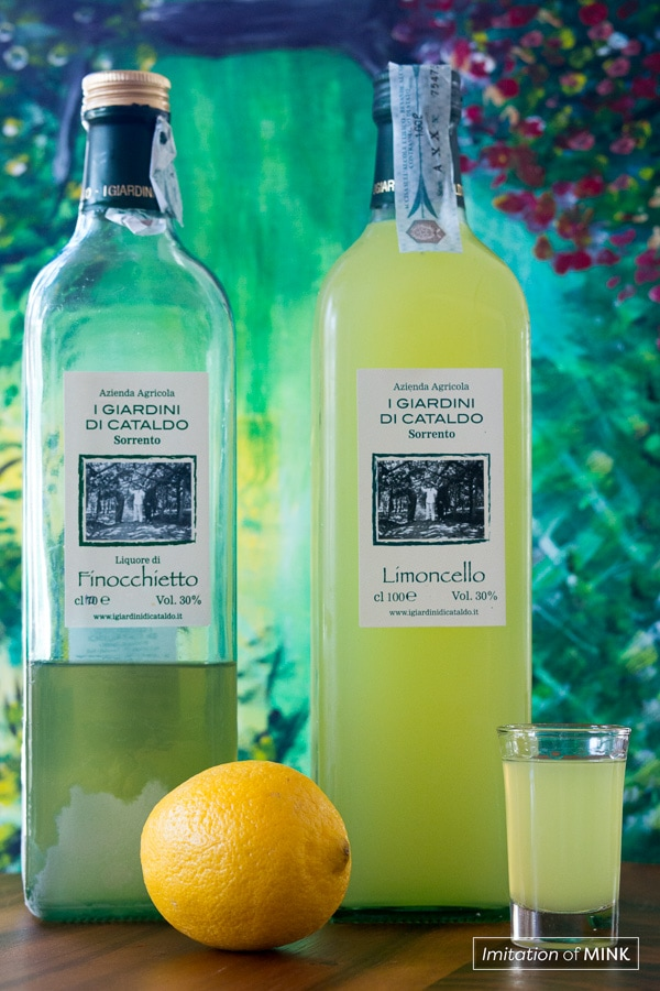 Limoncello and Finocchietto from Sorrento, Italy