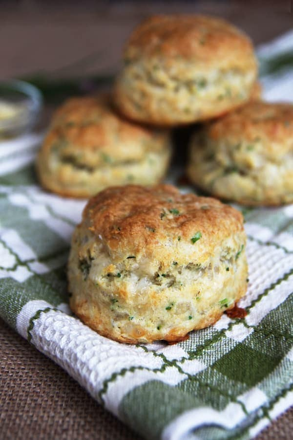 Sourdough Cheese and Chive Biscuits
