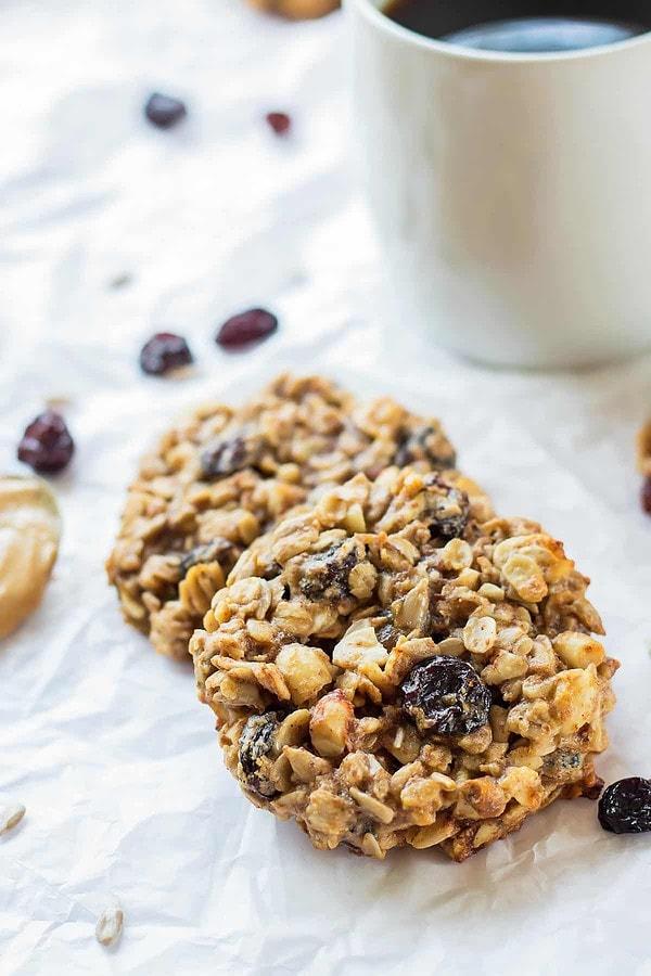 Healthy PB Banana Breakfast Cookies