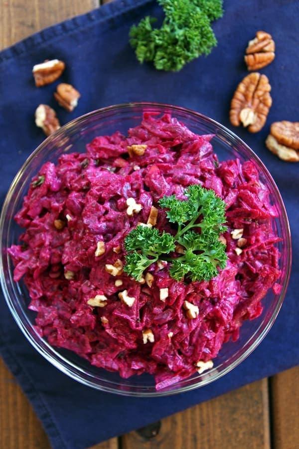 Creamy Russian Beet Salad