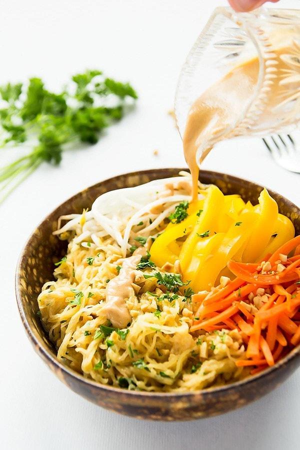 Healthy Thai Spaghetti Squash