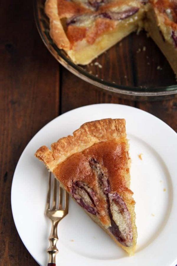 Slice of Almond Custard Pie