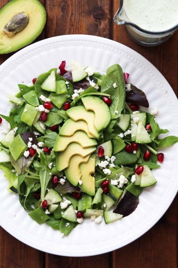 Winter Salad with Green Goddess Dressing