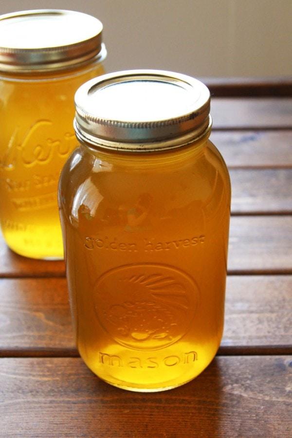 Slow Cooker Chicken Broth Jars
