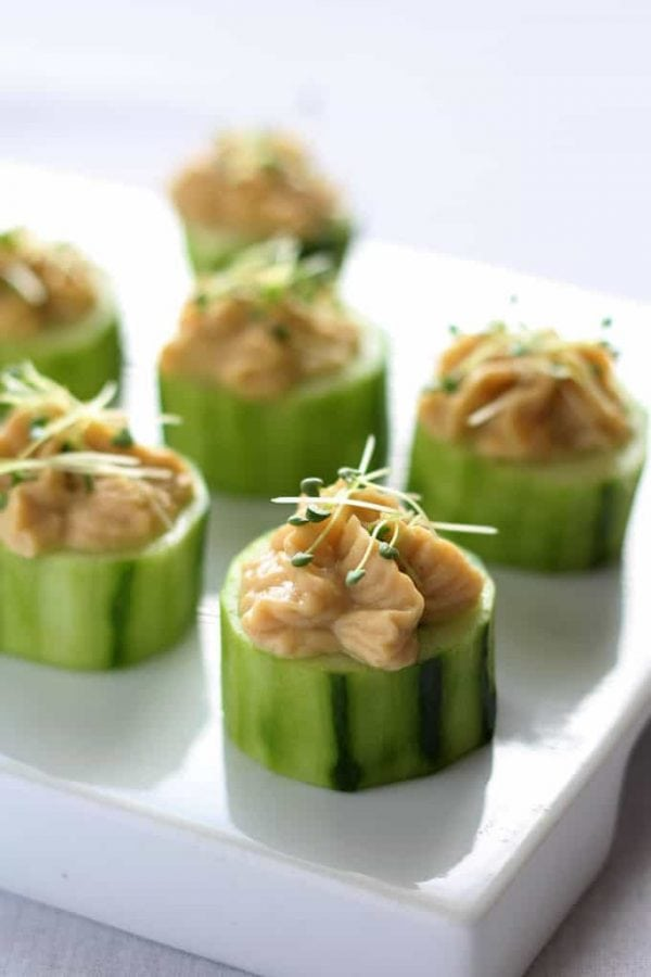 Cucumber Bites with Chia Sprouts