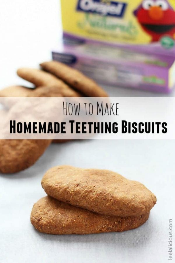 Golden Homemade Teething Biscuits
