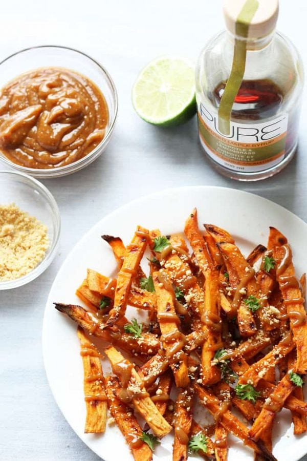 Plated Chipotle Roasted Sweet Potatoes