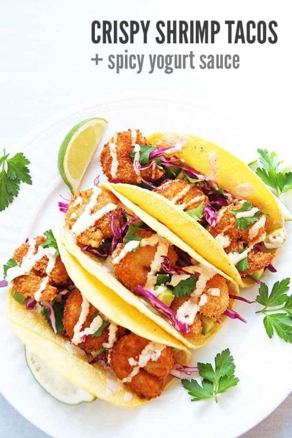 Crispy Shrimp Tacos in Tortillas