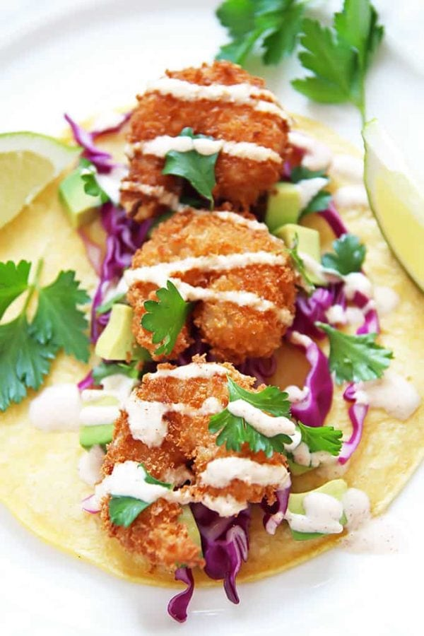 Shrimp Tacos with Cabbage