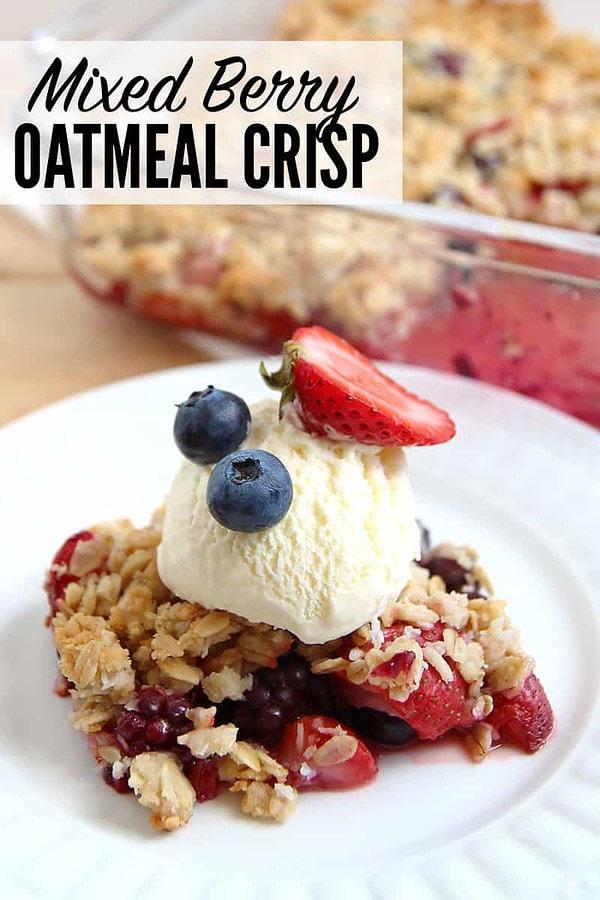 Mixed Berry Oatmeal Crisp