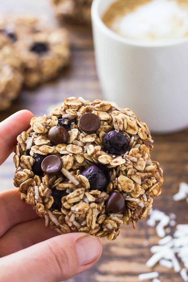 Blueberry Chocolate Breakfast Cookies