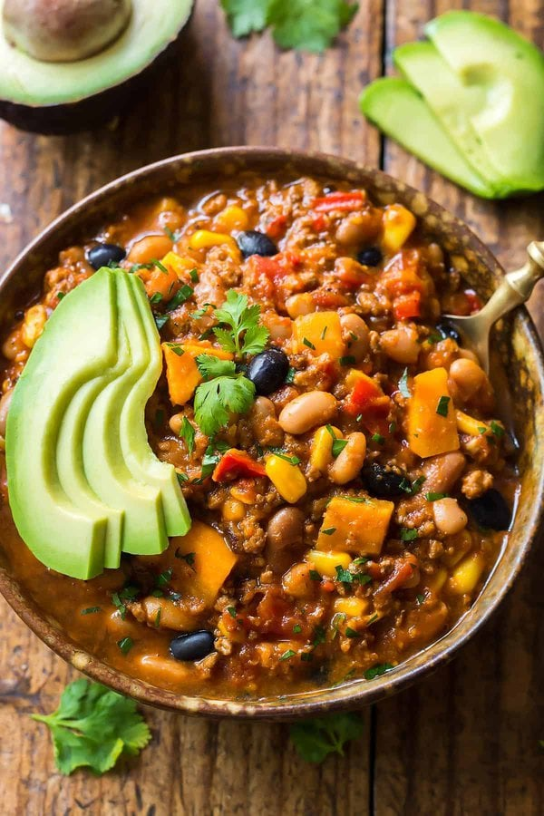 Instant Pot Chili with Avocado