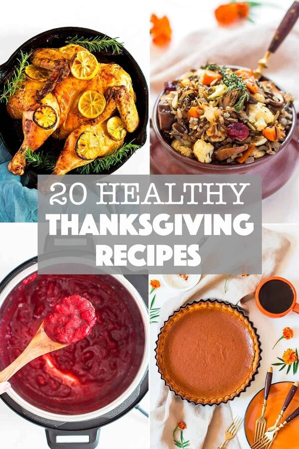 20 Healthy Thanksgiving Recipe Montage