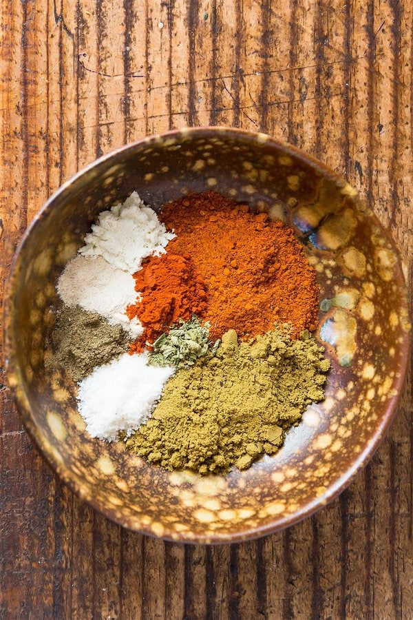 Homemade Taco Spices in Bowl