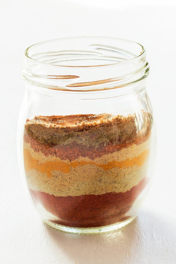 Layers of Tandoori Spices in Jar