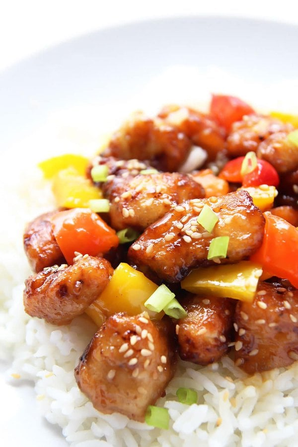 Homemade Orange Chicken Stir-fry