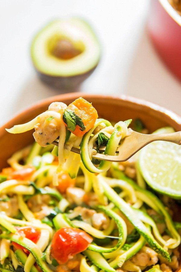 Turkey Sweet Potato Zoodles