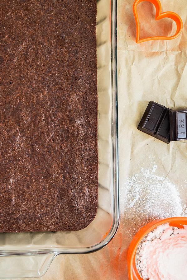 Tray of Spelt Flour Brownies