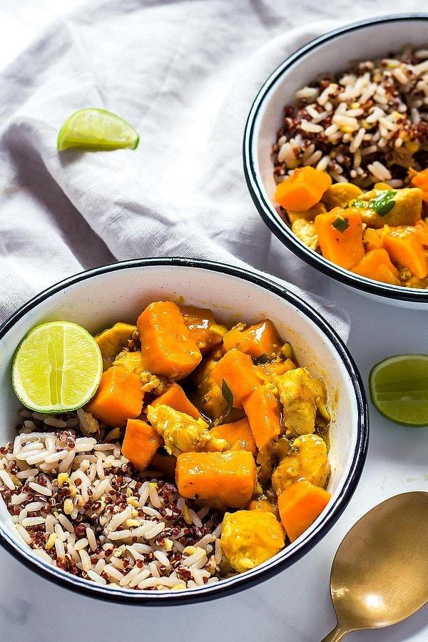 Chicken Sweet Potato Curry Bowl