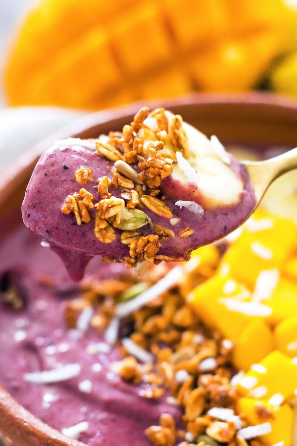 Spoonful of Frozen acai smoothie