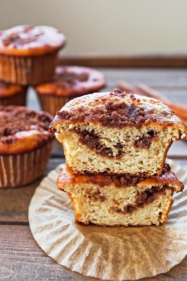 Coconut Flour Coffee Cake Muffins