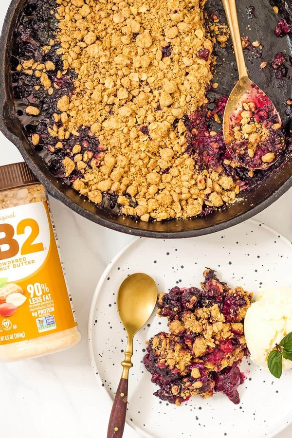 Berry Crumble with PB2
