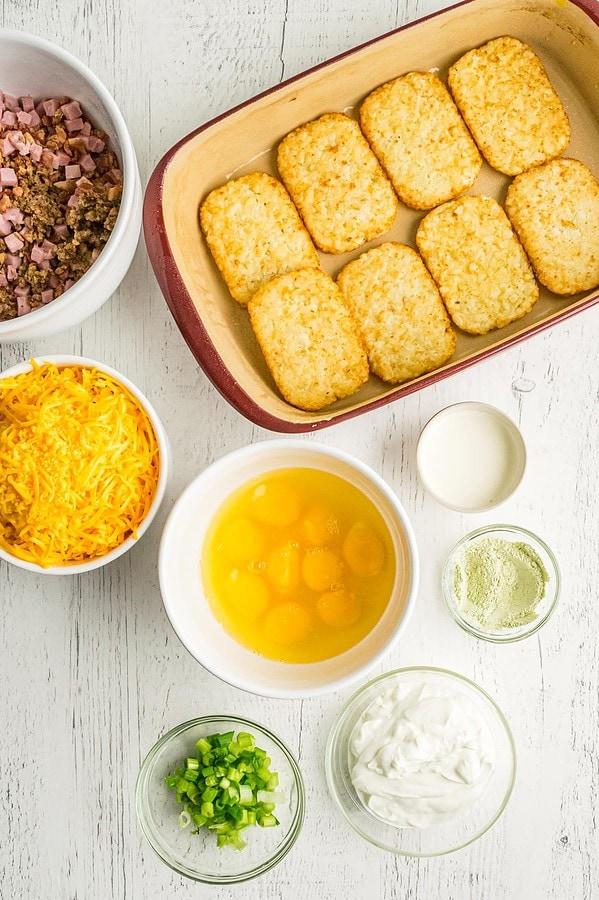 Hash Brown Egg Bake Ingredients