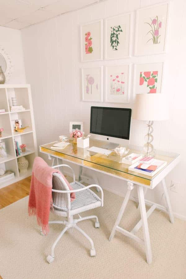 IKEA Gold Leaf desk hack