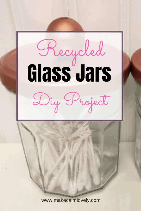 Recycled glass jars DIY project