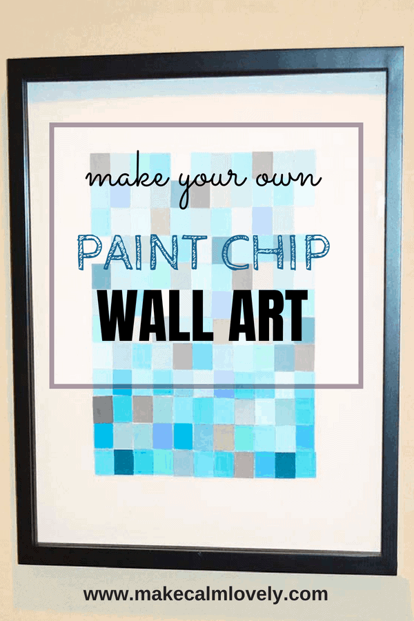 Make your own paint chip wall art