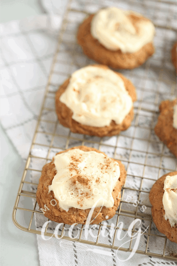 Best Carrot Cake Cookies with Cream Cheese Frosting
