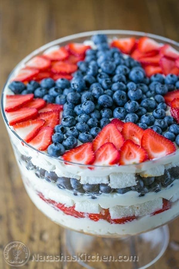No-Bake-Strawberry-Blueberry-Trifle