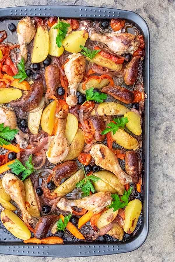 chicken dinner, summer recipe