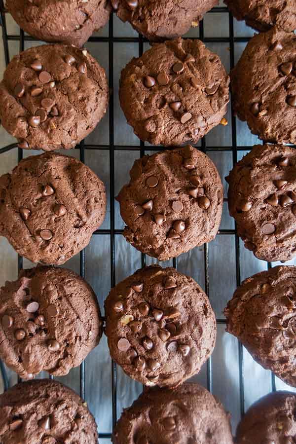 fudgy brownie cookies, gluten free